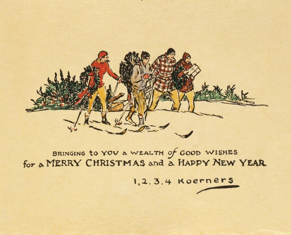 W.H.D. Koerner. Bringing To You a Wealth of Good Wishes. 1928, pen and ink and watercolor on paper. 1.78