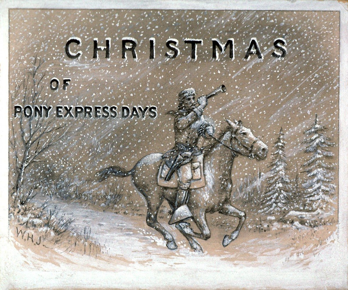 William Henry Jackson. Christmas of Pony Express Days. date unknown, watercolor on paper. 142.69