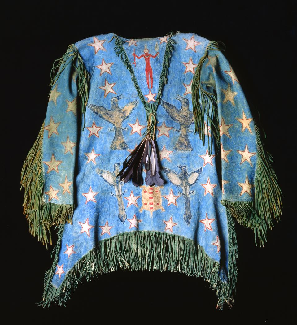 http://collections.centerofthewest.org/treasures/view/ghost_dance_shirt_oklahoma_arapaho_hinonoei_elkhide_magpie_feathers_feathe