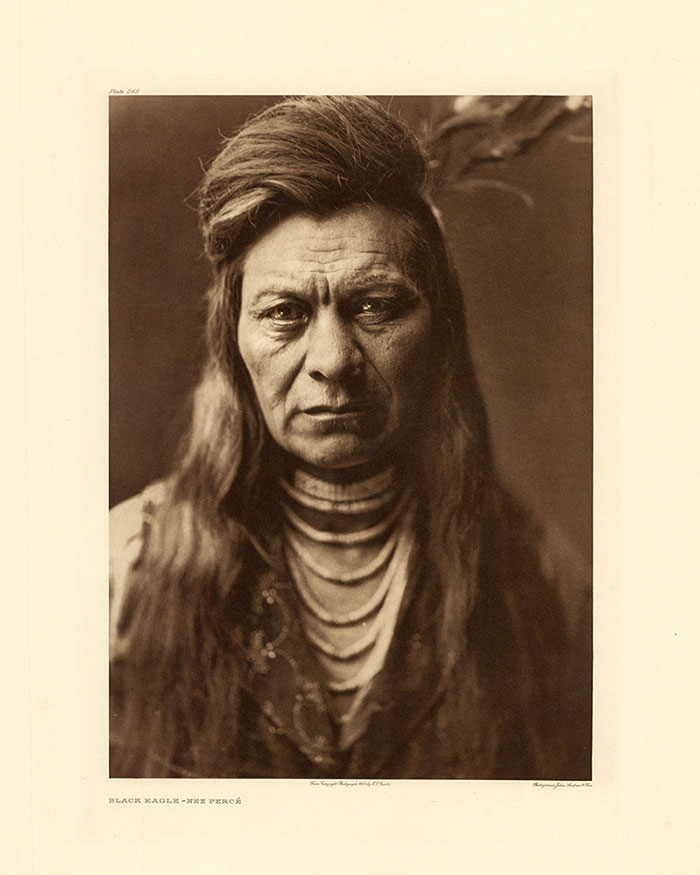 Black Eagle, Nez Perce, 1905. Photo by E.S. Curtis, from The North American Indian. Buffalo Bill Center of the West.