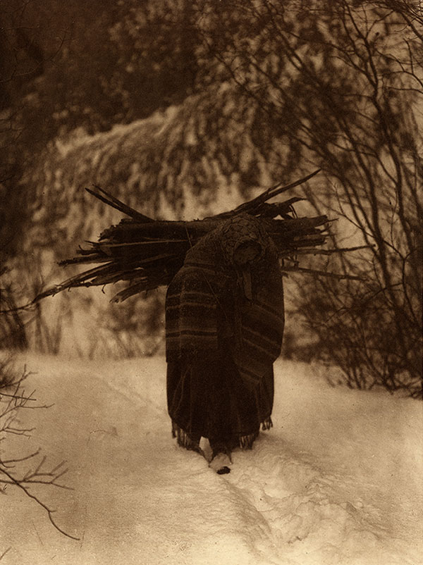 """Edward S. Curtis. """"A Heavy Load—Sioux."""""""
