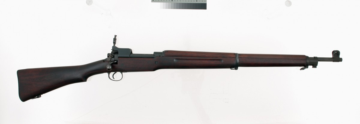 Model 1917 Rifle. This rifle was adapted from a British rifle and the US Army used this alongside the 1903 Springfield. Gift of Olin Corporation, Winchester Arms Collection. 1988.8.107