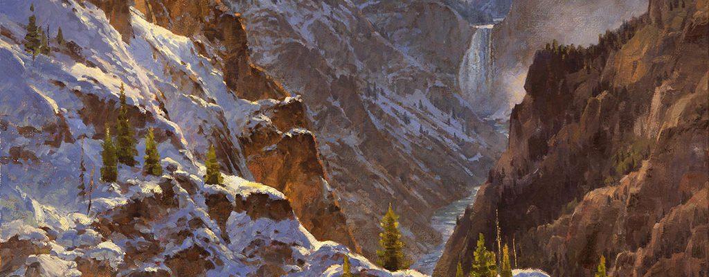 "Jim Wilcox. ""Canyon Frosting,"" 2001. William E. Weiss Purchase Award - 2001 Buffalo Bill Art Show. 12.01"