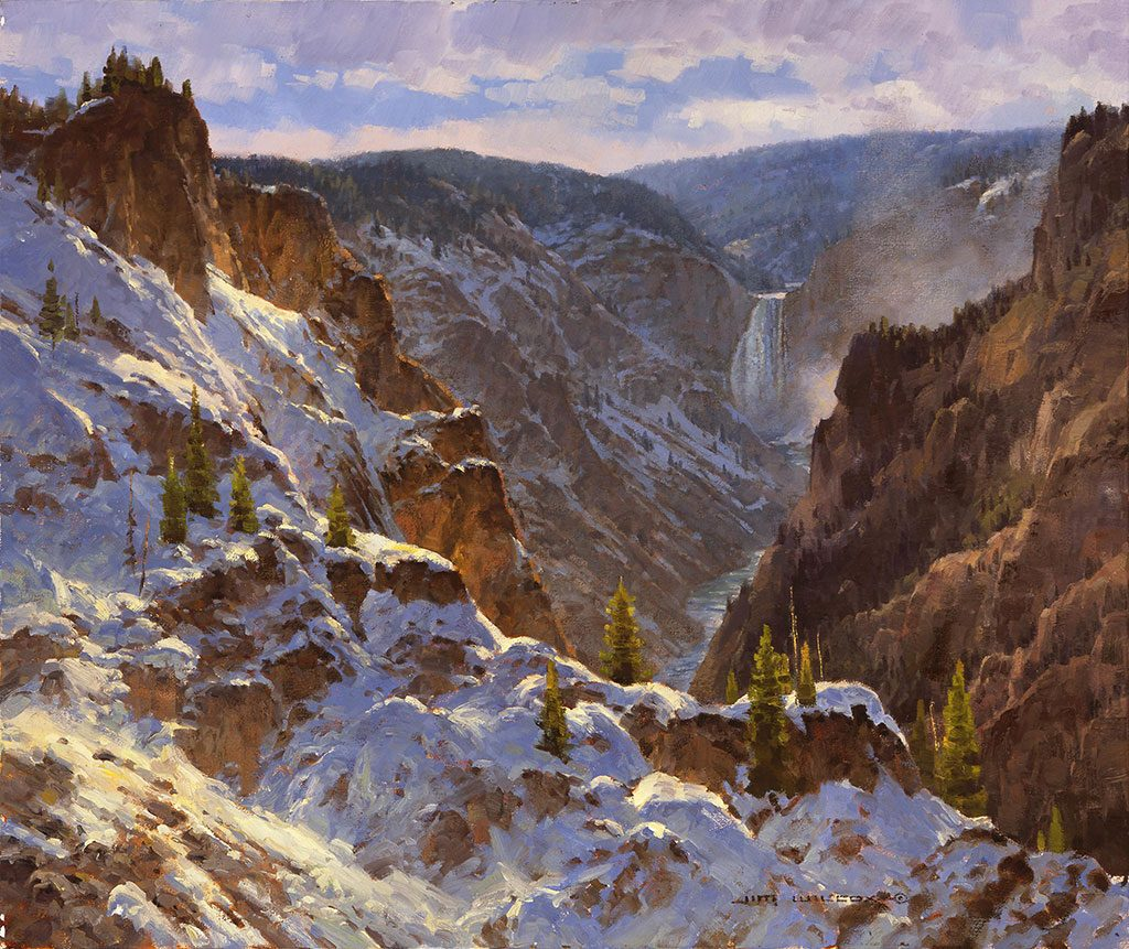 "Jim Wilcox. ""Canyon Frosting,"" 2001. William E. Weiss Purchase Award – 2001 Buffalo Bill Art Show. 12.01"