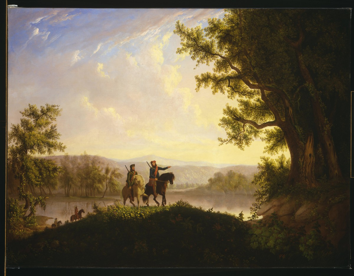 guns of lewis and clark buffalo bill center of the west painting ldquothe lewis and clark expeditionrdquo by thomas burnham circa 1850 oil on canvas whitney western art museum collection 21 78