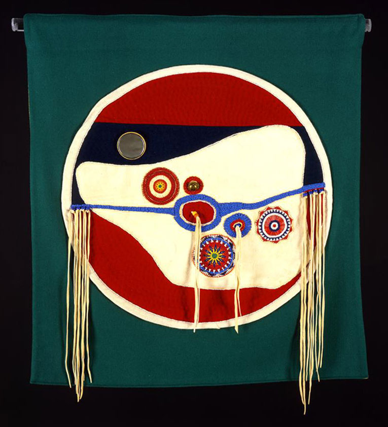 Arthur Amiotte (b. 1942). Shield wall hanging, 1996. Gift of the Pilot Foundation. NA.302.139