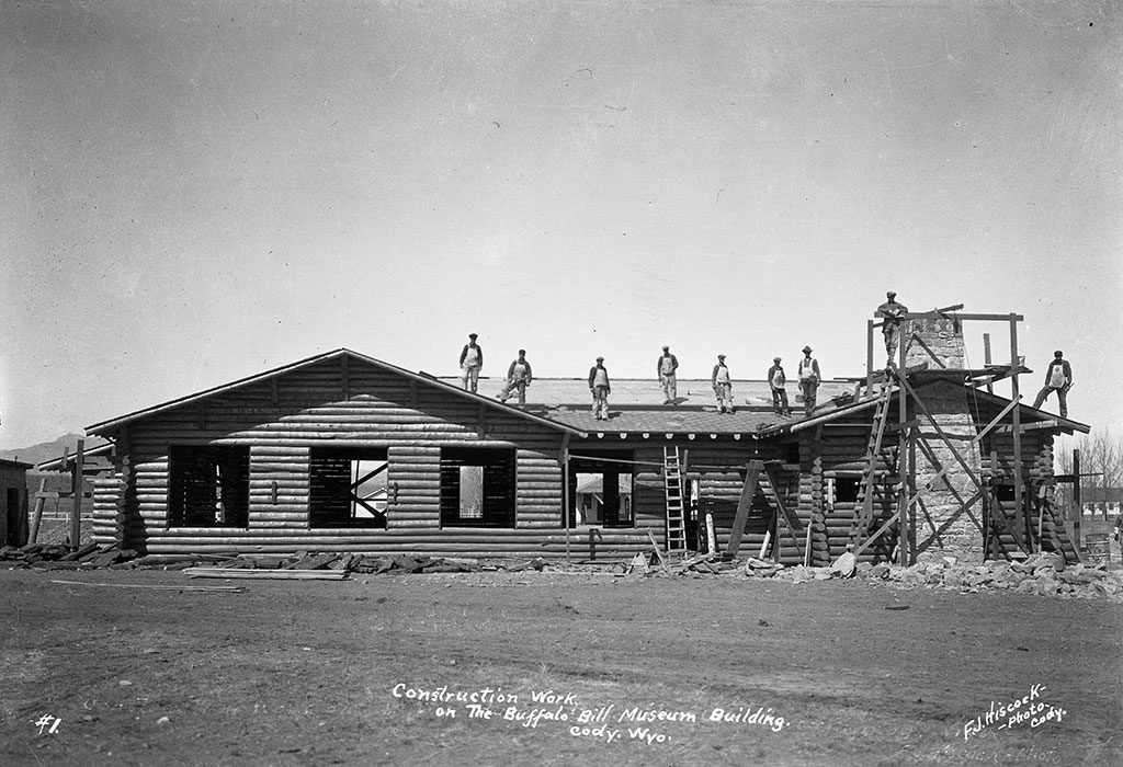 Original Buffalo Bill Museum under construction. Buffalo Bill Museum Photographs Collection. PN.228.064