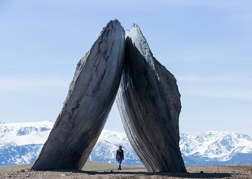 "Join us for the ""Forged & Founded"" sculpture symposium June 17. Ensamble Studio (Antón García-Abril and Débora Mesa), Inverted Portal, 2015. Image courtesy of Tippet Rise/Iwan Baan. Photo by Iwan Baan."