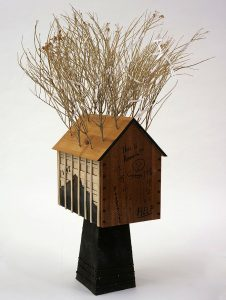 "Peter Jacobs (b. 1939) in collaboration with William Hosokawa. ""Spirit House–Heart Mountain 1942,"" 2006. Gift of the Artist. 6.06"