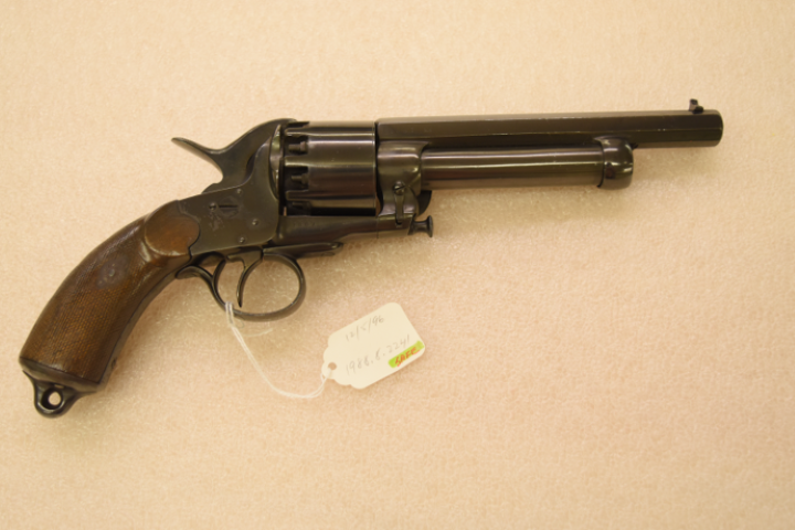 LeMat revolver, ca. 1856-1865. Gift of Olin Corporation, Winchester Arms Collection. 1988.8.2241