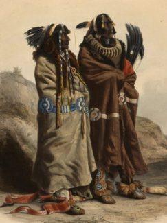 Karl Bodmer (1809–1893). Sih-Chida and Mahchsi-Karehde Mandan Indians, ca. 1840–1843. Aquatint and engraving on paper. Gift of Clara S. Peck. 21.69.73