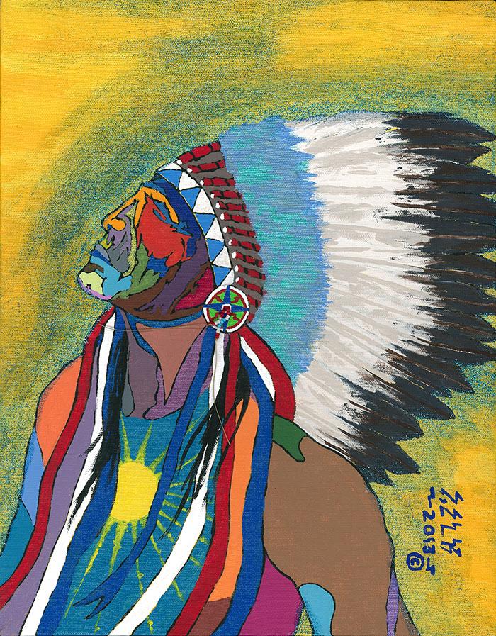 """Seidel Standing Elk. """"Spirit of the Earth."""" Courtesy of the artist."""