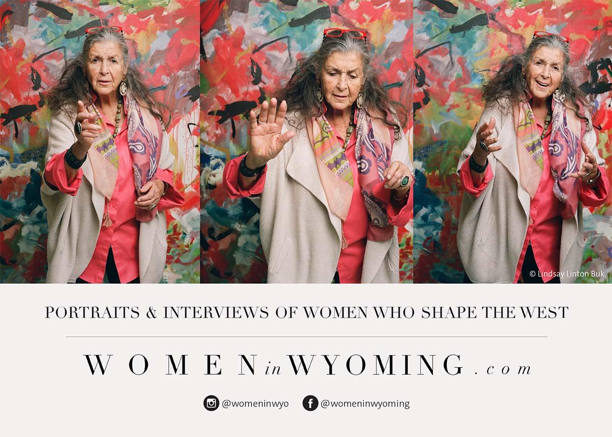 Women in Wyoming postcard