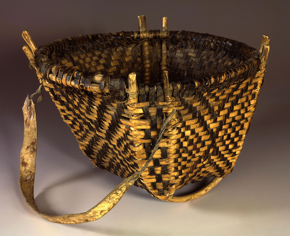 Woven basket, 1860. Mandan. Chandler-Pohrt Collection, Gift of Mr. William D. Weiss. NA.106.183
