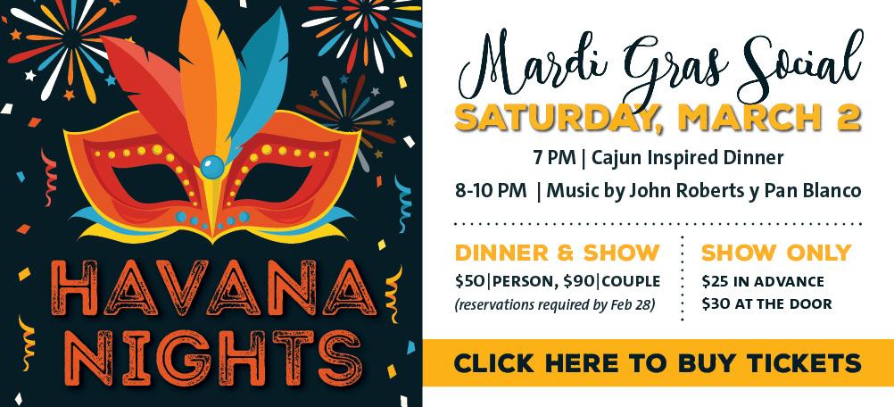 Havana Nights: A Mardi Gras Social