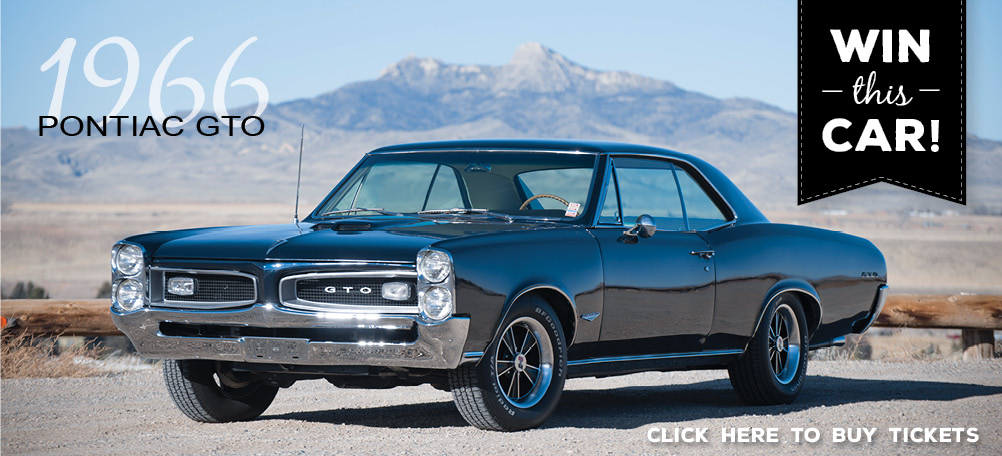 Win this raffle car: 1966 Pontiac GTO