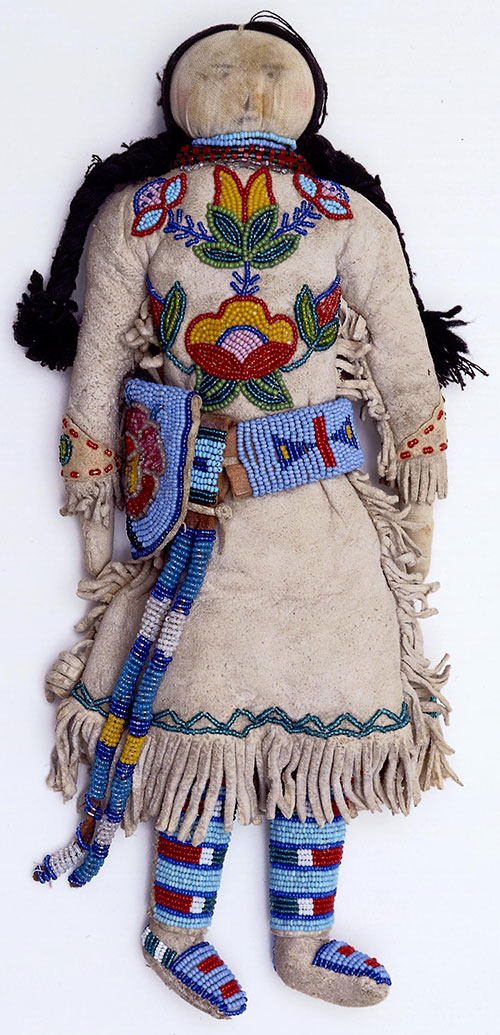 Doll, ca. 1910. Crow. In loving memory of Julia Frost Pasley Morrison. NA.507.99.1