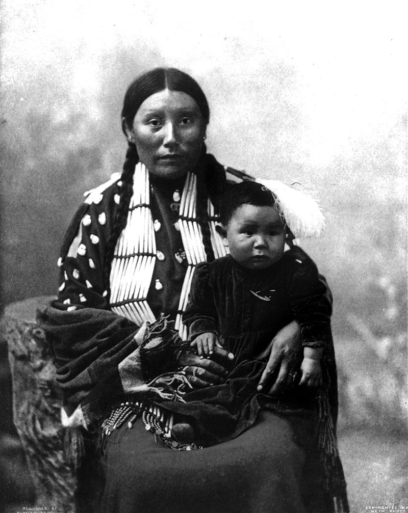 Stella Yellow Shirt and child, Brule. MS 36 North American Indian Collection. P.35.143