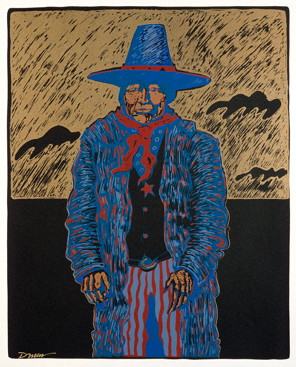 Darren Vigil Gray (b. 1959). Wovoka, 1983. Silk screen on paper, 22.5 x 18 inches. Gift of Mrs. Damaris D.W. Ethridge. 1.84.1