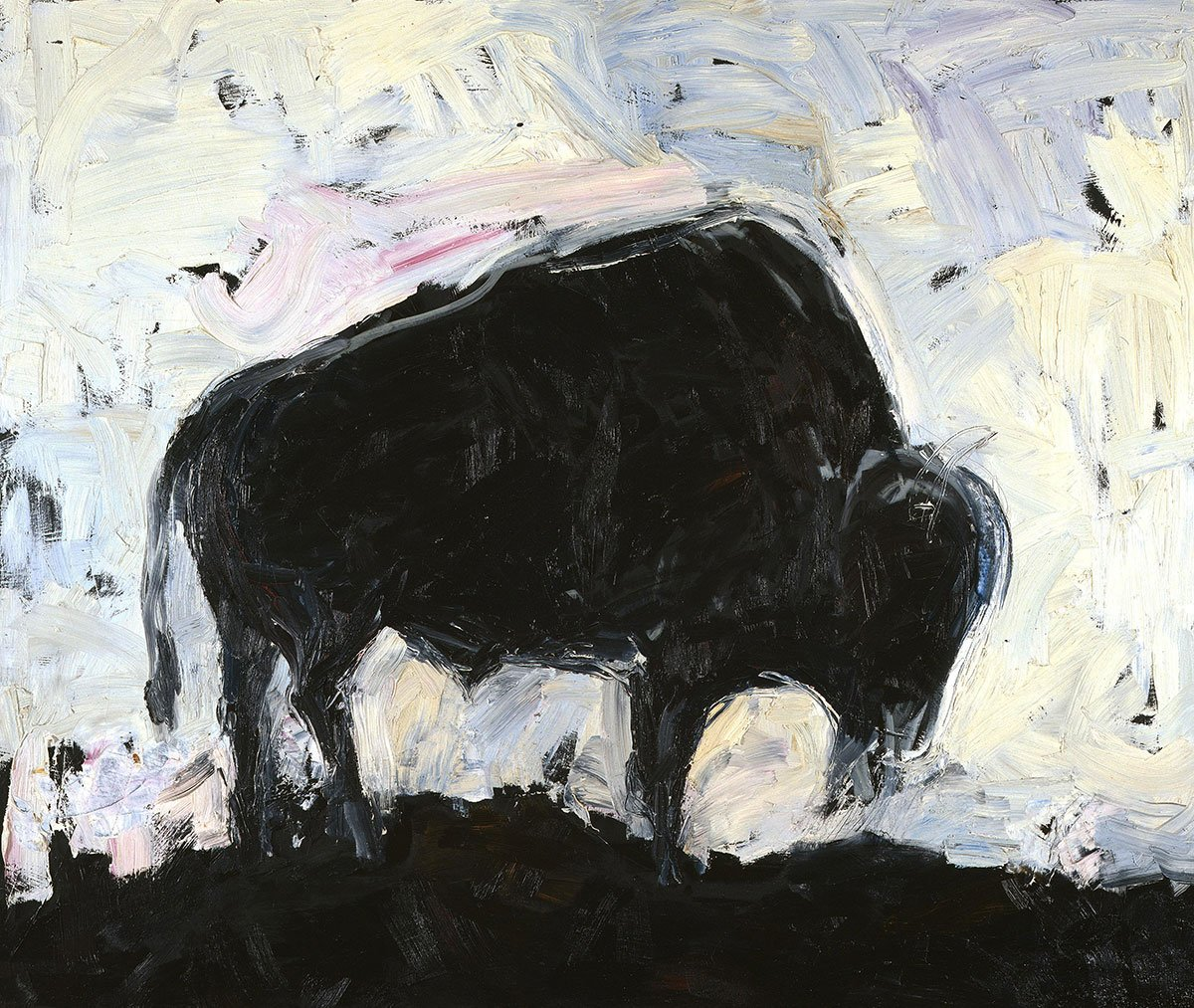 "Waddell, Theodore (b. 1941). ""Buffalo #2,"" 1986. Oil on canvas, 60 x 72 inches. Purchased by a grant from the National Endowment for the Arts, a federal agency, and William D. Weiss. 4.91"