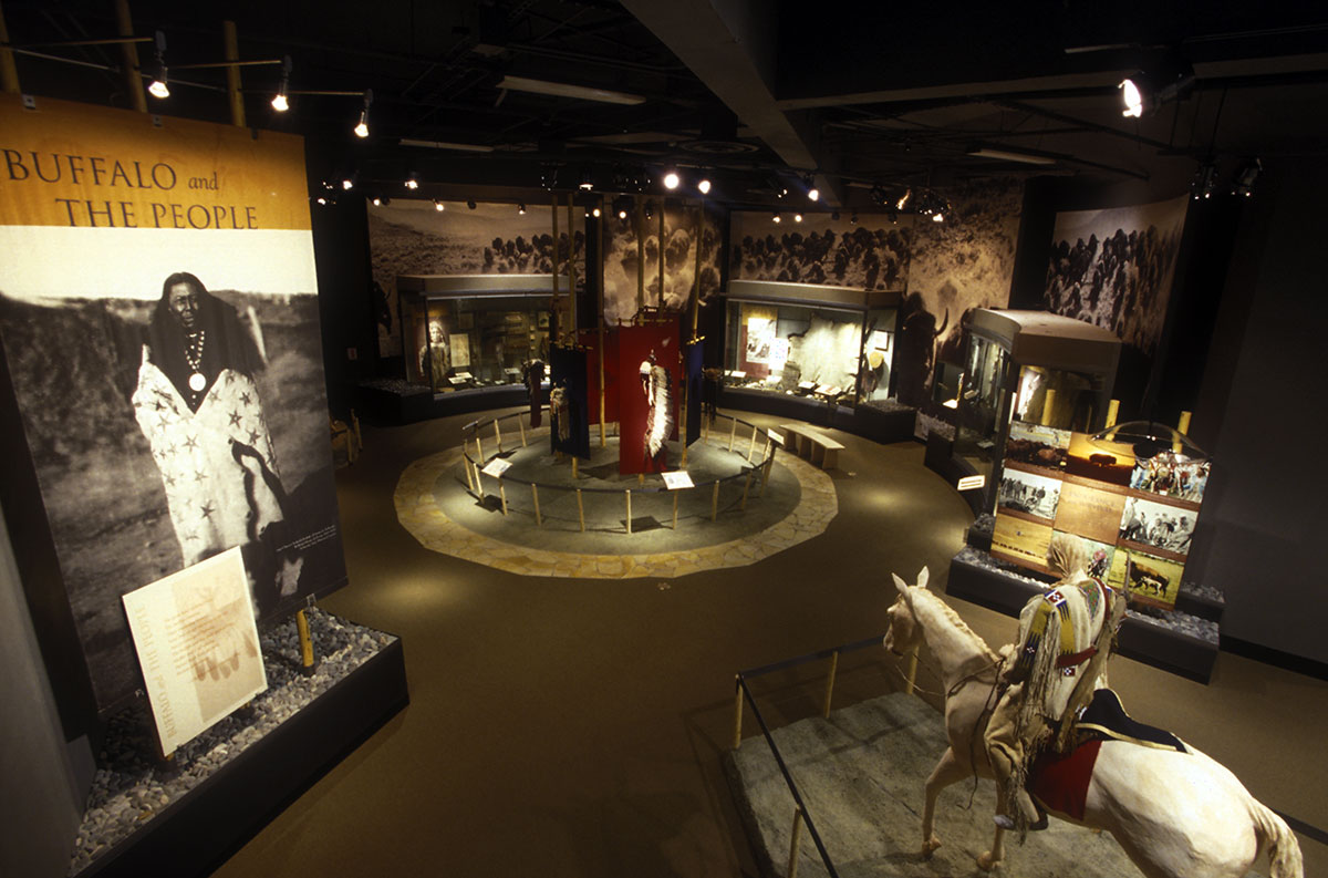 The Buffalo and the People gallery, Plains Indian Museum.