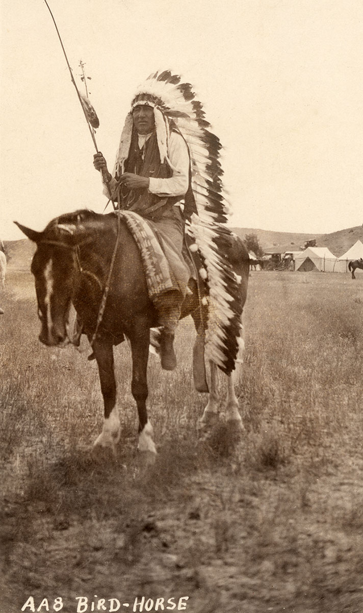 Big Horse on horseback, ca. 1915–1925. MS 320 Paul Dyck Plains Indian Buffalo Culture Collection. P.320.485