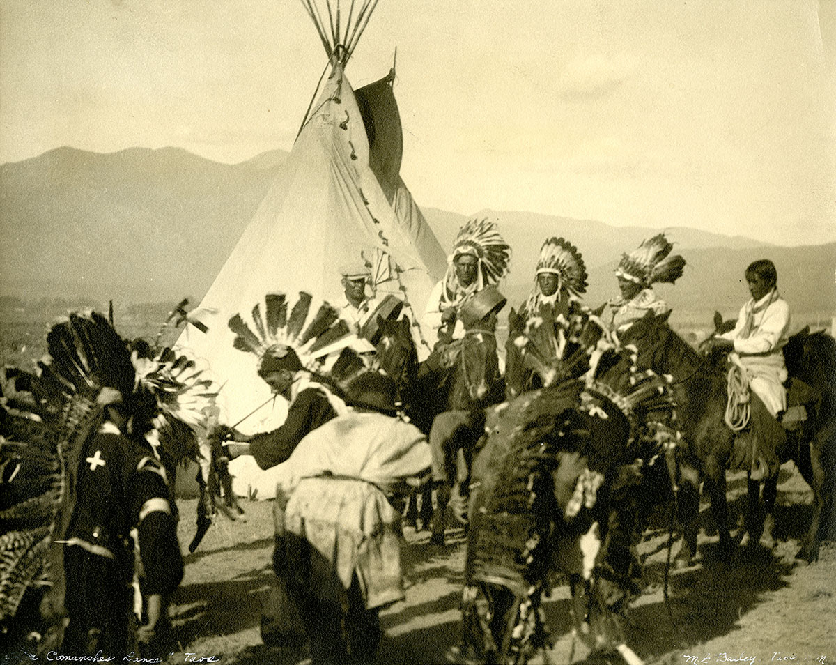 Dancing at a fall festival, Taos, New Mexico. MS 438 Forrest Fenn Indian Photographs Collection. P.438.69