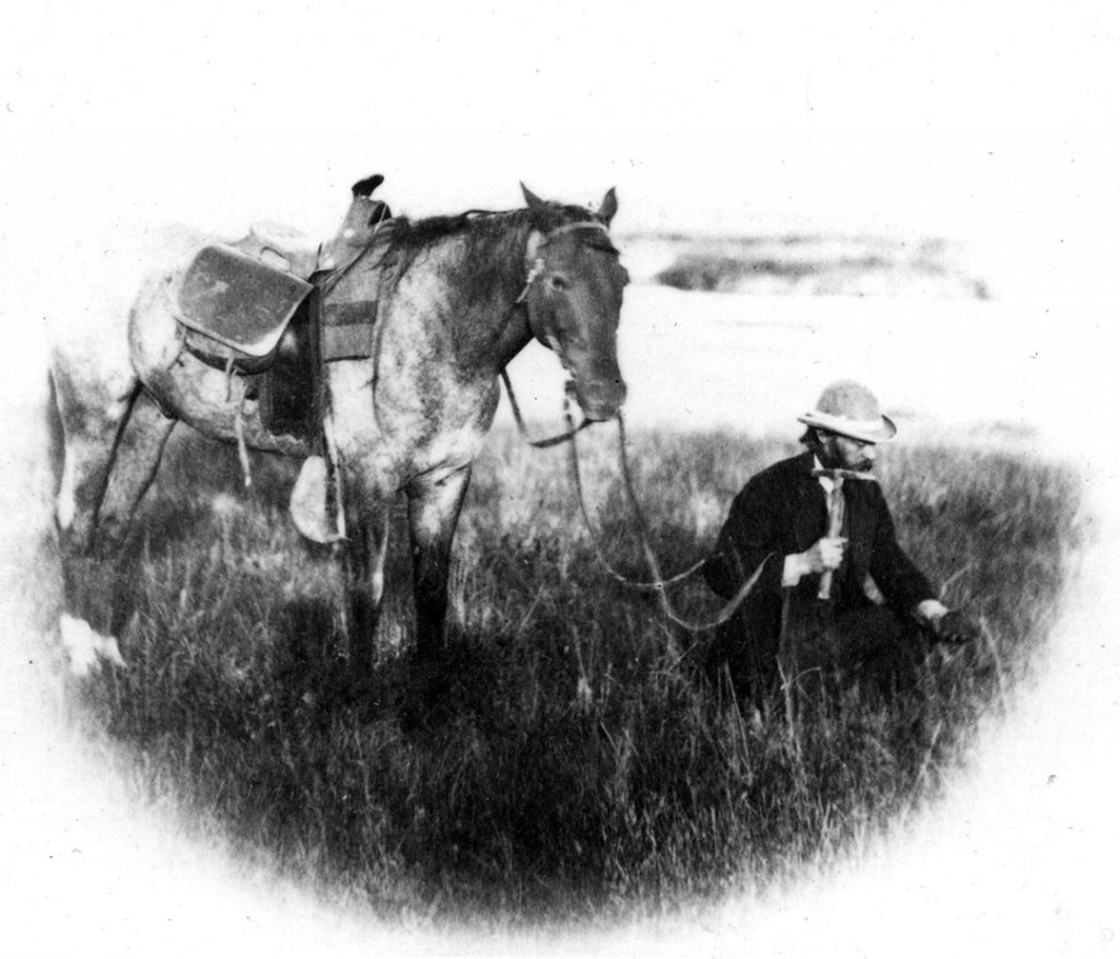 "Ferdinand Vandeveer Hayden, leader of the 1871 U.S. Geological Survey of the Territories, was determined to see that ""Yellowstone went public."" USGS photo."