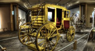 According to records, manufacture was begun and completed in 1867. Originally used as a hotel coach in Littleton, New Hampshire. Gift of Olive and Glenn E. Nielson. 1.69.2726