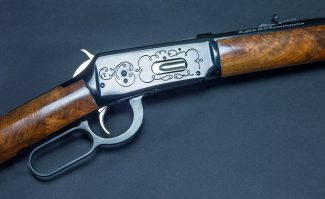 A Treasure from Our West: Buffalo Bill commemorative rifle, Winchester. 1.69.2160 (detail)