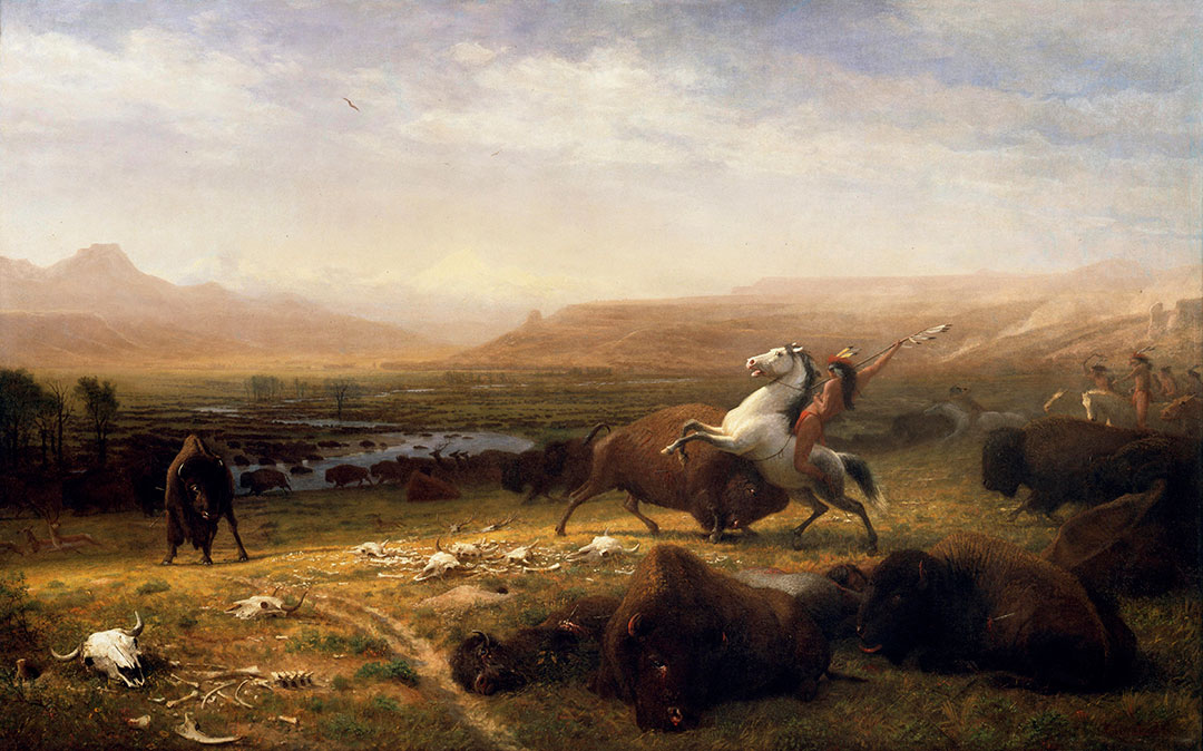 Albert Bierstadt (American, born Germany, 1830-1902). The Last of the Buffalo, ca. 1888. Oil on canvas, 60.25 x 96.5 inches. Buffalo Bill Center of the West, Cody, WY, USA. Gertrude Vanderbilt Whitney Trust Fund Purchase. 2.60
