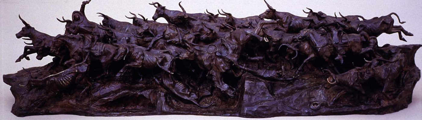 "Harry Jackson (b. 1924). ""Stampede,"" 1959. Bronze, 15 x 56 inches. Gift of The Coe Foundation. 52.72"