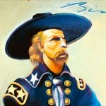 "Earl Biss, ""General Custer in Blue and Green."" 18.00"
