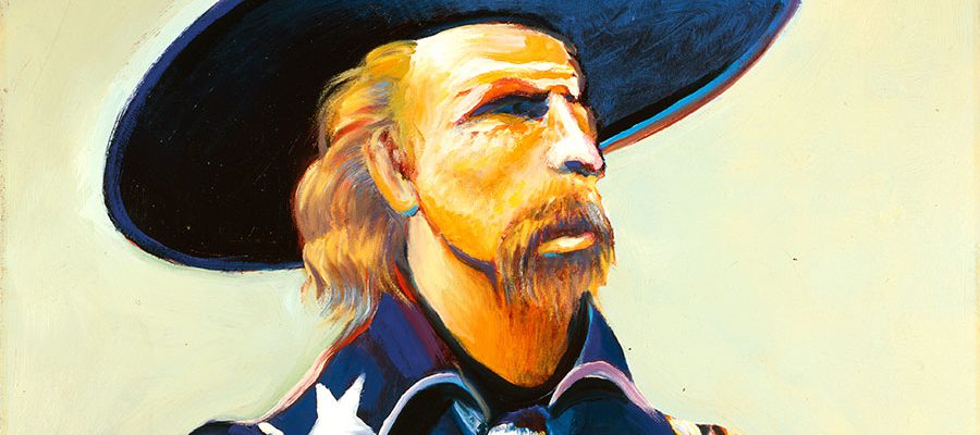 """Earl Biss, """"General Custer in Blue and Green."""" 18.00"""