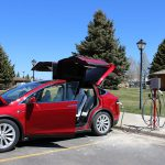 The Buffalo Bill Center of the West's new electric vehicle charging station.