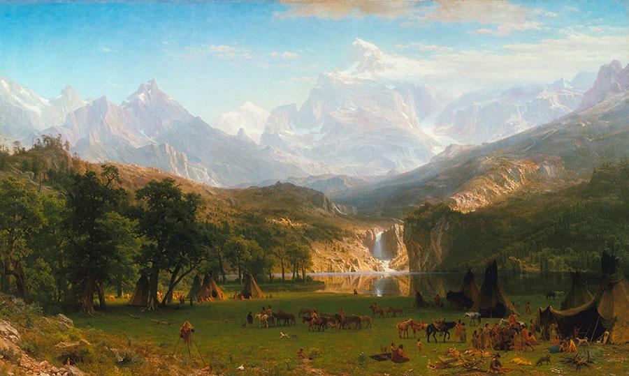 "Fig. 3, Albert Bierstadt (1830-1902). ""The Rocky Mountains, Landers Peak,"" 1863. Oil on canvas. Metropolitan Museum of Art in New York, New York. 07.123"