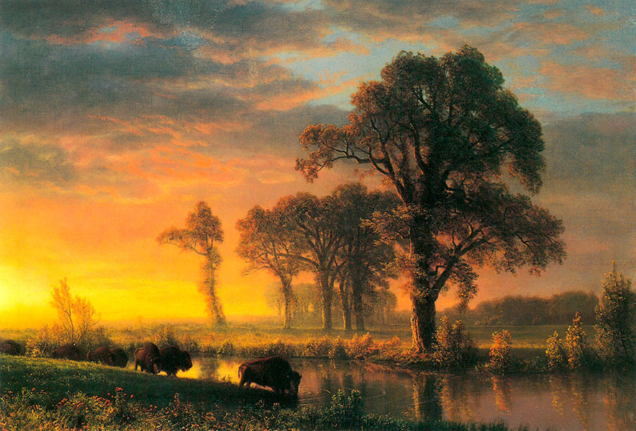 """Fig. 7, """"Western Kansas,"""" 1876. Oil on canvas. Private collection."""