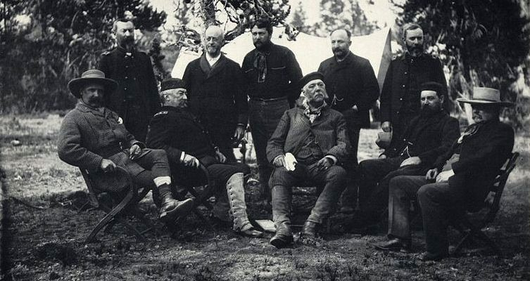 F. Jay Haynes, The Chester Arthur Party in Yellowstone, albumen silver print, 1883. (Library of Congress)