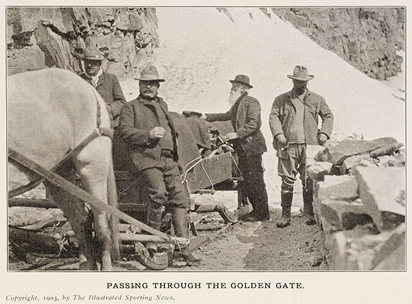 Passing through the Golden Gate. 1903, The Illustrated Spring News.
