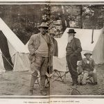 The President and His Party in Camp in Yellowstone Park. 1903, The Illustrated Sporting News.