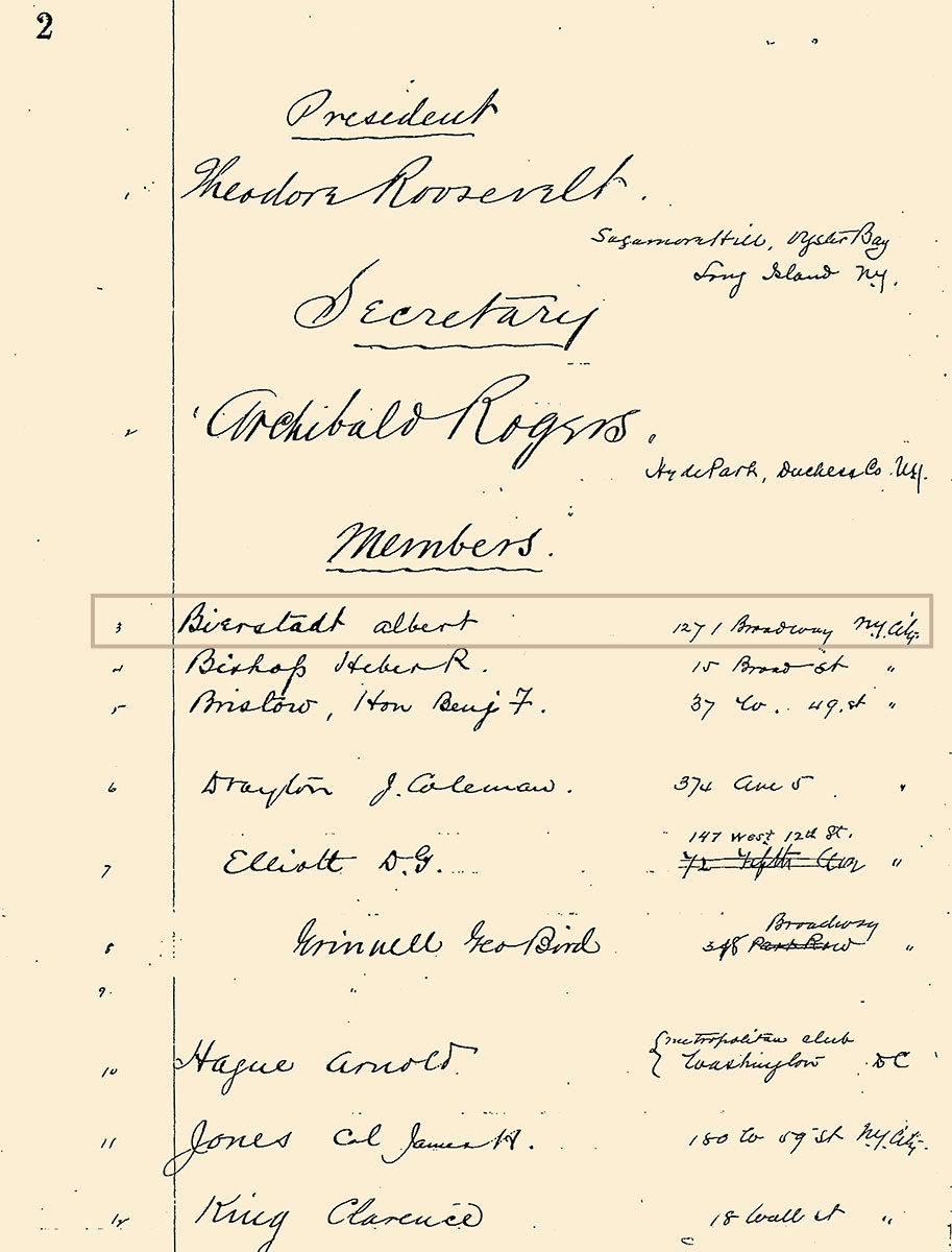 Boone and Crockett Club Meeting Minutes, January 9, 1889. University of Montana – Missoula, Mansfield Library, Boone and Crockett Club Records, 1888-2009, MSS 738