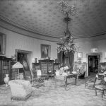"Francis Benjamin Johnston, ""Presidential Library as Living Room, White House,"" 1890. Black and white photograph. Library of Congress, Prints and Photographs Division, Washington, D.C., LC-DIG-ppmsca-50061"