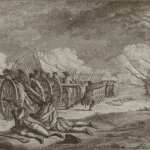 An engraving depicting the April 19, 1775 Battle of Lexington.