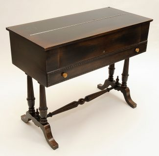 Traveling desk of Nate Salsbury, mahogany, ca. 1898–1905. 1.69.1788