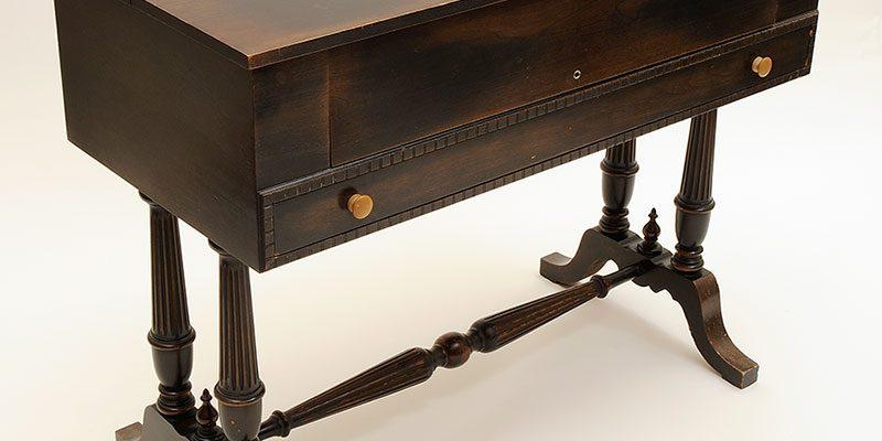 Traveling desk of Nate Salsbury, mahogany, ca. 1898–1905. 1.69.1788
