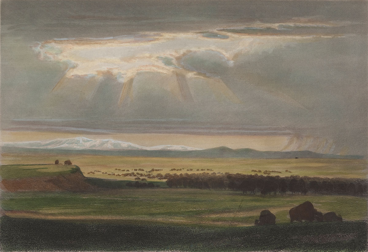 William Holbrook Beard (1824 –1900). ON THE PRAIRIE, 1869. Colored engraving. Amon Carter Museum of American Art, Fort Worth, TX, 1964.52