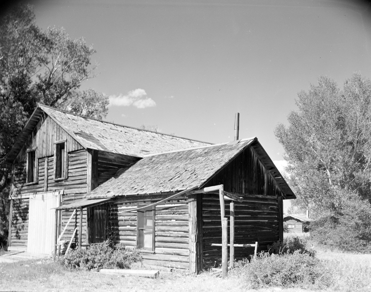 Log cabin in South Pass City, Wyoming