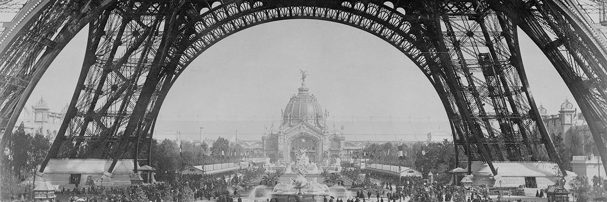 EXPOSITION UNIVERSELLE, PARIS, 1889, black and white photographic print, 8 x 10 inches.