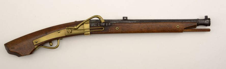 A Japanese matchlock pistol dating from 1750–1850. Buffalo Bill Center of the West, Cody, WY, USA; Gift of Olin Corporation, Winchester Arms Collection, 1988.8.1077