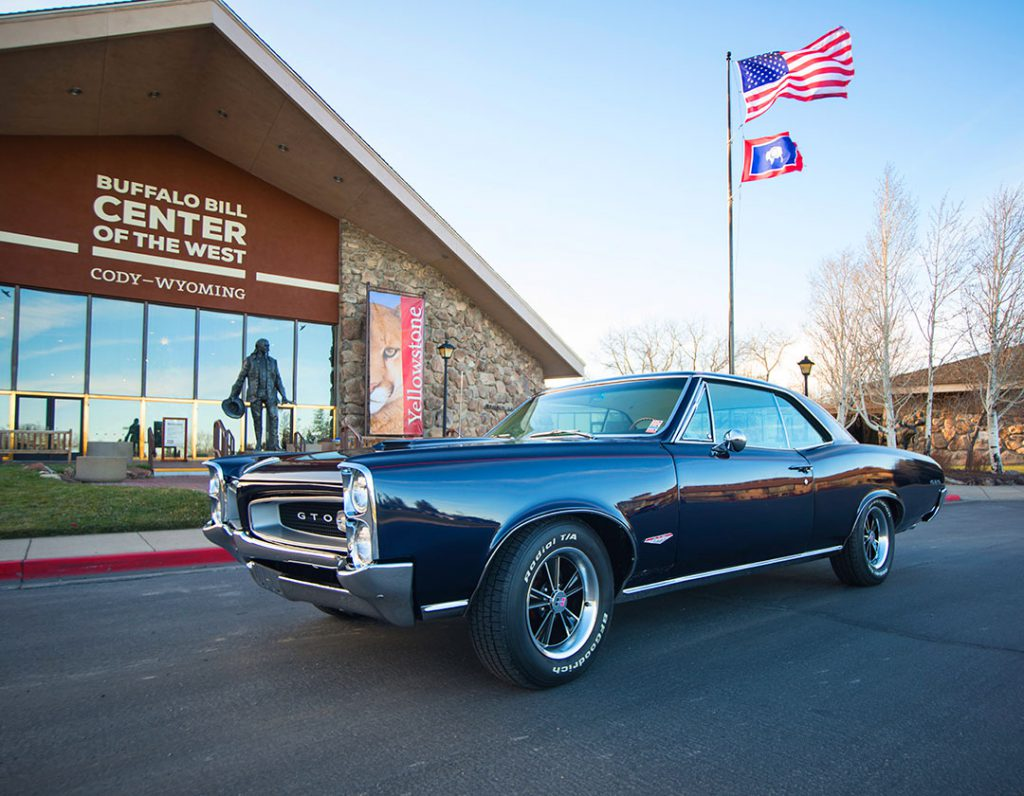 A car of North's design, the GTO, is this year's raffle car for the Buffalo Bill Center of the West.